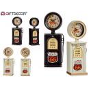 metal petrol pump clock 2 times assorted