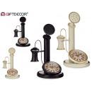horloge de téléphone antique en métal 2 fois assor