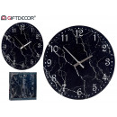 Movement type black marble effect glass