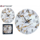 Movement type white marble effect glass