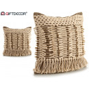 wholesale Cushions & Blankets: gray 45x45 fringe cushion