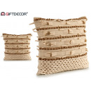 wholesale Cushions & Blankets: beige fringe cushion 45x45