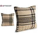 wholesale Cushions & Blankets: black check cushion 45x45