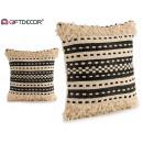 wholesale Cushions & Blankets: black striped cushion 45x45