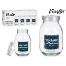 Bocal en verre de 1800 ml Vintage