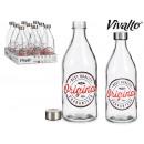 Szklana butelka o pojemności 1 l, oryginalna stalo