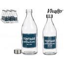Bouchon en acier pour bouteille en verre 1l Vintag