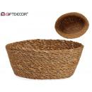 cesto vegetal conico ovalado 20x16cm