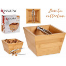 scatola di bambù con schiaccianoci 16cm