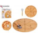 piatti pizza di bambù 35cm con pizza corta b