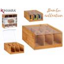Bambusbox 6 Fächer 21,7cm