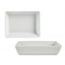 Tányér 16 cm-es fehér téglalap alakú porcelán