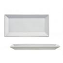 Tányér 30 cm-es fehér téglalap alakú porcelán