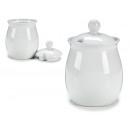 Sucrier en porcelaine blanche de 420 ml