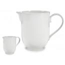 Pichet en porcelaine blanche de 1150 ml