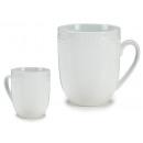 Tazza in porcellana bianca da 550 ml