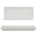 plateau rectangulaire en porcelaine blanche 32c