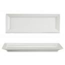 plateau rectangulaire en porcelaine blanche 40c