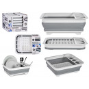 égouttoir à vaisselle pliable en silicone blanc et