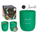 wholesale Home & Living: 120gr candle glass with green tea design and li