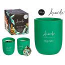 120gr kaarsglas met groene thee design en li