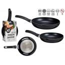 set of 2 pans 20-24 cm black aluminum