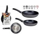 set of 2 pans 20-24 cm gray aluminum