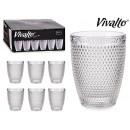 mayorista Casa y cocina: vaso cristal puntos agua 30cl transparen