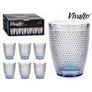 mayorista Casa y cocina: vaso cristal puntos agua 30 cl azul coba