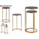 wholesale Small Furniture: set of 2 round metal aux tables