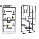 1x2m black geometric metal shelf