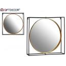 miroir 65cm métal rond cadre carré