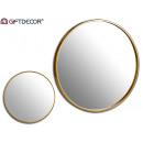 Cornice rotonda in metallo specchio oro 73cm