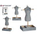 grossiste Bijoux & Montres: mannequin porte-bijoux velours gris art ...