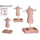 mayorista Joyas y relojes: maniqui portajoyas terciopelo rosa decoración r