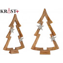 wooden tree silhouette with star 58cm