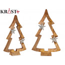 wooden tree silhouette with star 39cm