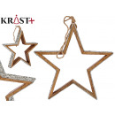 wooden star silhouette with glitter 3