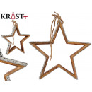 wooden star silhouette with glitter 28