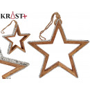 wooden star silhouette with glitter 22