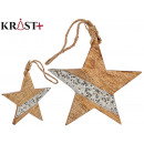 solid star wood with glitter 18c