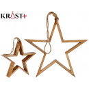 wooden star to hang 50cm