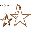 wooden star to hang 40cm
