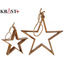 wooden star to hang 35cm