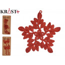 set of 2 figures Christmas items red 13cm