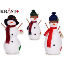 set of 3 figures snowman branches