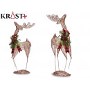 reindeer figure with metallic thread 65 cm