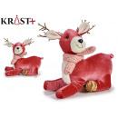 small pink horned reindeer figure 25