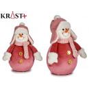 figure snowman pink suit medium 30cm