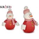 figure snowman small red suit 20cm
